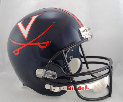 Virginia Cavaliers Full Size Replica Riddell Helmet